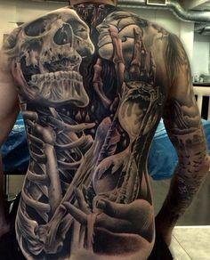 amazing #skeleton #tattoo #skeleton_tattoo