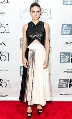 Celebrity Style - Rooney Mara - monstylepin #fashion #celebrity #style #rooneymara #fashionicon #redcarpet #eveningwear #proenzaschouler #trend #metallic