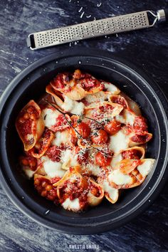 Chorizo and Chickpeas Stuffed Pasta Shells