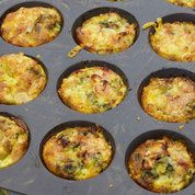 Egg and spinach parcels