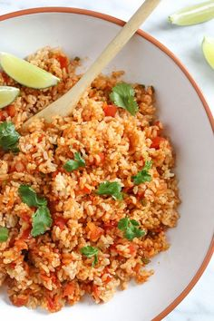 Quick Mexican Brown Rice – quick, healthy and easy, great for Cinco De Mayo!