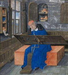 British Library, Netherlands, 1479 Miniature of the translator, Simon de Hesdin…