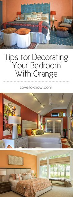 It's one of the trendiest colors for bedroom decors - orange. You can use it in a bedroom as a main color choice or simply as an accent color. No matter what shade you choose - from apricot to pumpkin to melon - it's sure to make a statement.   Tips for Decorating Your Bedroom With Orange from #LoveToKnow
