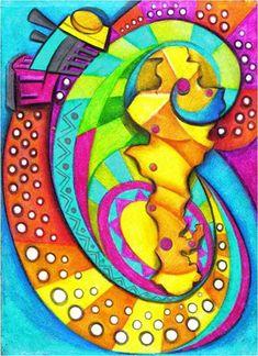 El tren del turismo / Obra de Yarime Lobo Outdoor Decor, Fictional Characters, Home Decor, Dawn, To Sleep, Canvases, Sketches, Good Times, Artists