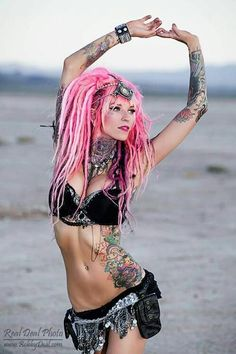 Ink and pink hair