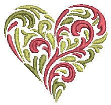 Sensational Heart - free embroidery download from Bernina