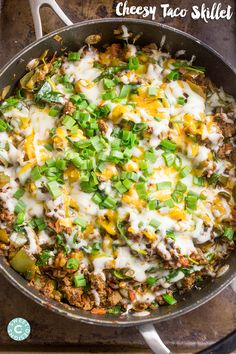 One Pot Cheesy Taco Skillet