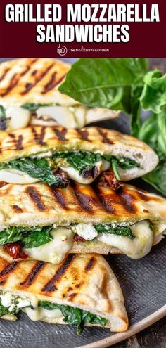 Not your average grilled cheese sandwich! Pita Grilled Cheese w Mediterranean faves like mozzarella, feta, sundried tomatoes, basil pesto. Wrap Recipes, Veggie Recipes, Lunch Recipes, Vegetarian Recipes, Dinner Recipes, Sandwich Recipes, Aldi Recipes, Cheese Recipes, Mediterranean Dishes