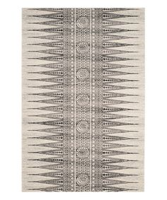 Love this Ivory & Gray Cleo Rug on #zulily! #zulilyfinds