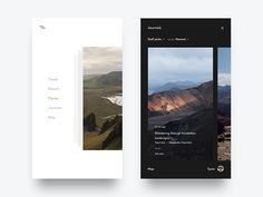 "Hey guys!   Like I mentioned earlier, today I'm continuing the ""Wayfarer Travel App"" project. Here are two more screens of many. I'm still in design process, trying to improve the user interface t..."