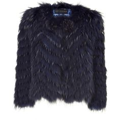VERSACE Night Blue Fur Jacket (€2.300) ❤ liked on Polyvore featuring outerwear, jackets, coats, fur, tops, fur jacket, versace, versace jacket, blue fur jacket and blue jackets