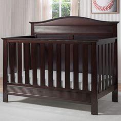 Serta Barrett 4-in-1 Convertible Crib, Brown