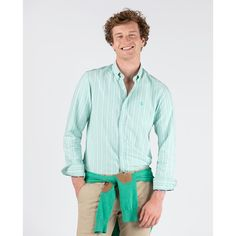 Camisa Masculina Verde Linho Classic