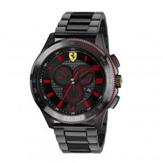 Scuderia XX Ferrari Carbon Fibre Steel Chronograph Watch Yellow NEW Cool Watches, Watches For Men, Men's Watches, Liverpool, Ferrari Watch, Watch Photo, Color Ring, Casio Watch, Stainless Steel Case