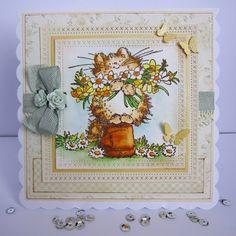 Hei, hui olipa kylmä pääsiäinen! Korttini kuitenkin lupailee kevättä. Vielä ehdit osallistua huhtikuun  Penny Black and More haastee seen: a...