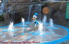 Donald Duck Splash Area at Disney's Saratoga Springs Resort near Downtown Disney at Disney World. Walt Disney World Rides, Disney World Hotels, Disney World Florida, Disney World Resorts, Disney Parks, Disney Bound, Saratoga Springs Disney, Saratoga Springs Resort, Springs Resort And Spa