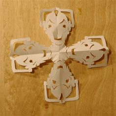 Cyber man Doctor Who snowflake