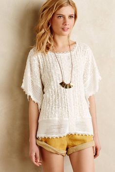 New Anthropologie Eula Lace Poncho