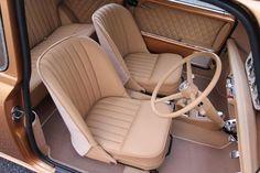 Image may contain: people sitting Mini Cooper Custom, Mini Cooper Classic, Classic Mini, Classic Cars, Automotive Upholstery, Car Upholstery, Mini Cooper Interior, Rover Mini Cooper, Vw Cabrio