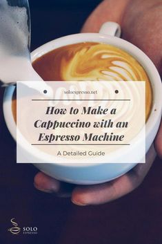 Cappuccino is an espresso based drink perfectly blended with milk foam. This traditional Italian drink is incredibly popular among coffee drinkers. Here is what you need to know to make a Cappuccino with an Espresso Machine. Cappuccino Recipe, Cappuccino Maker, Cappuccino Coffee, Cappuccino Machine, Coffee Coffee, Drip Coffee, Café Espresso, Italian Espresso, Espresso Maker