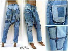 Senderismo jeans unisex Pantalones con entrepierna corta en