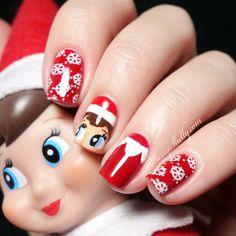 Digit-al Dozen ~ Traditions – Elf On The Shelf (with a Video Tutorial!) | Sassy Shelly: Nail Blog | Bloglovin'