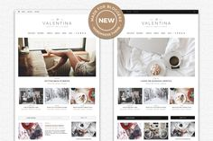 Valentina - Blog and Magazine Theme by Seaboard Themes on @creativemarket