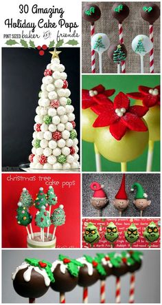 This 30 Christmas Cake Pops Collection have some of my favorite. This 30 Christmas Cake Pops Collection have some of my favorite holiday Cake Pops! Theyre all super cute and make great gifts! Christmas Cake Pops, Christmas Sweets, Noel Christmas, Christmas Goodies, Christmas Colors, Christmas Ornaments, Simple Christmas, Xmas Food, Beautiful Christmas