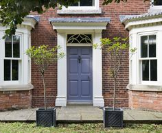 Front door painted Earl Grey from Chiselwood Paint Collection www.chiselwood.co.uk/paint