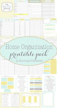 You won't want to miss this fabulous collection of FREE home organization printables, menu planners, and cleaning schedules.