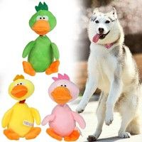Wish | Pet Puppy Dog Toys Chew Dog Squeaky Plush Sound Cute Duck Toys
