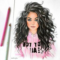 Petite fille dessin dessin animé de fille dessin fille triste image professionnel image création