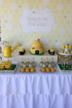 1st Bee-Day Party with Such Cute Ideas via Kara's Party Ideas | KarasPartyIdeas.com #HoneybeeParty #Party #Ideas #Supplies (5)