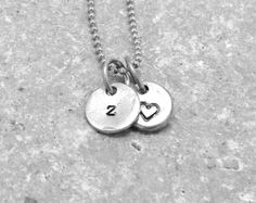 Sterling Silver Initial Charm Necklace Letter by GirlBurkeStudios, $27.50