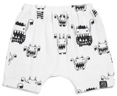 Kukukid Off-White Monsters Shorts - available for international delivery from online kids store www.alittlebitofcheek.com.au