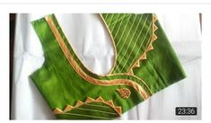 easy blouse neck desiign with Anchor thread cutting and stitching Patch Work Blouse Designs, Simple Blouse Designs, Stylish Blouse Design, Blouse Neck Models, Saree Blouse Neck Designs, Bridal Blouse Designs, Chudidhar Neck Designs, Sleeve Designs, Designer Blouse Patterns