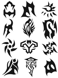 Wiccan Symbols by kailor on DeviantArt Cool Symbols, Wiccan Symbols, Magic Symbols, Bracelet Tatoo, Graphic Pattern, Symbol Design, Drawing Reference Poses, Zodiac Art, Joko