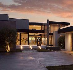 Modern front entrance