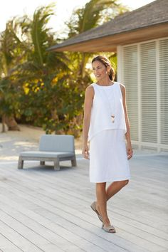 J jill white dress online Everyday Casual Outfits, Princess Outfits, Classic Outfits, Lovely Dresses, Fashion Over 50, Comfortable Outfits, Dresses Online, White Dress, Pure Products