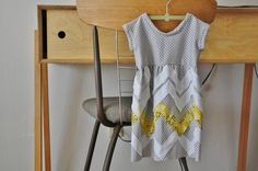 Cute chevron dress with pattern