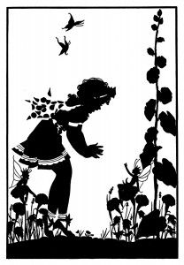 Fairy Garden.....I love this silhouette picture & so would Mom!!!.....