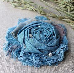 """Купить Брошь из ткани """"Vasilisa"""" ( текстиль, цветок) - брошь, брошь из ткани, брошь текстильная"""