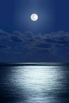 Full moon over the Aegean Sea, Greece