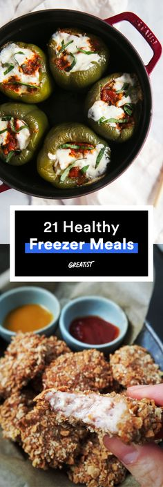 All you have to do is reheat and eat. #freezermeals #frozenfood http://greatist.com/eat/healthy-freezer-meals