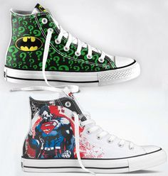 DC Comics Converse Chuck Taylors Isaac has a pair of Batman Chuck's but they are a little different than these ones.