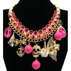 Chunky Skull Charm Statement Necklace | Bling By Shauna