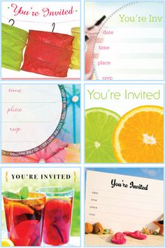 Printables!  Easy, pretty summer party invitations - Canadian Living