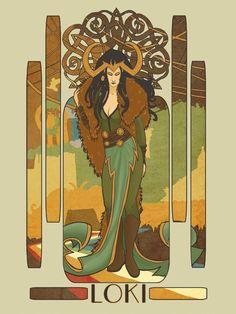Lady Loki by fantasy-fairy on DeviantArt Lady Loki Cosplay, Marvel Cosplay, Loki Marvel, Marvel Art, Marvel Comics, Marvel Villains, Loki Mythology, Art Nouveau, Loki Art