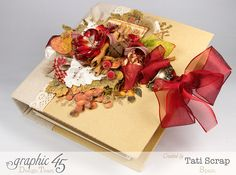 "Tati, ""Dreams Of Autumn"" Recice Book, Mixed Media Album, Product by Graphic 45, Photo 13"