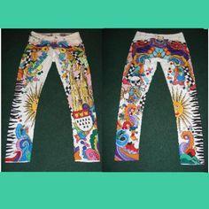 Bemalte Jeans für Karneval